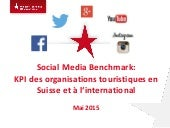 Social Media Benchmark: Indicateurs de performance clés (KPI) des organisations touristiques en Suisse et à l'international