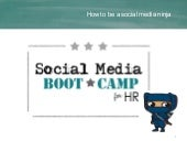 Social Media Boot Camp for HRSW