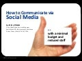 Social Media Communication for City Government