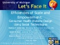 Efficiencies of Scale and Empowerment: Consumer Health Website Design Using Social Technologies