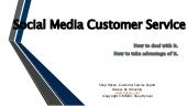 Navigating Customer Service on Social Media