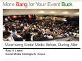 Using Social Media at Events: Best Practices