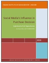Social Media's Influence in Purchas...