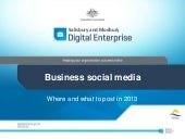 Business Social media: Where and wh...