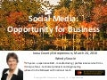 Social Media For Iowa County Entrepreneurs
