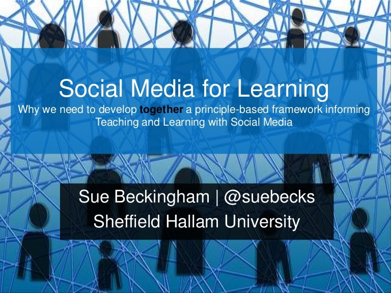 Social Media for Learning #MELSIG keynote