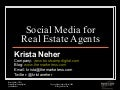 Social Media For Real Estate Agents