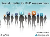 Social media for PhD researchers