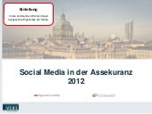 Social Media in der Assekuranz 2012...