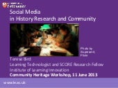 Social Media in History Research