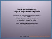 Social Media Legal, Regulatory & Co...