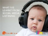 What I've Learnt from Social Media Listening