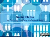 Social media for teaching, learning...