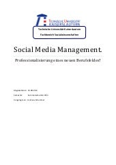 Social media management - Professio...
