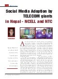 Social Media Adoption by  TELECOM giants in Nepal - NCELL and NTC