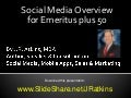 Social media overview for emeritus plus 50