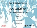 Social media speaker series Part 1