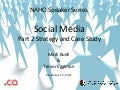 Social media speaker series Part 2