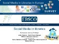 Social Media usage in libraries in Europe - survey findings