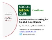 Social Media Club Talk with Suzanne McDonald