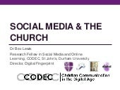 Social media & The Church, URC July 2014