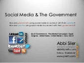 Social Media & The Government