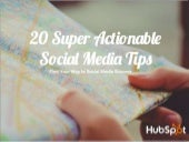 20 Super Actionable Social Media Tips