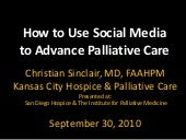 Social media to advance palliative ...