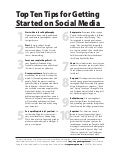 Top Ten Tips for Getting Started with Social Media