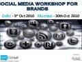 Social Media Workshop for Brands in October - Delhi, Mumbai