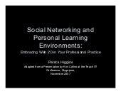 Socialnetworking and ple's