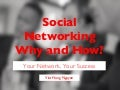 Social Networking: Why and How?