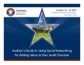 Auditor's Guide to Using Social Net...