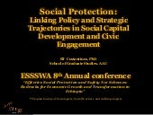 Social protection linking policy an...