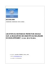 Social protection and the achieveme...