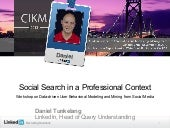 Social Search in a Professional Context