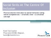 Social skills at the centre of inclusion: from economic inclusion to social inclusion using social competences