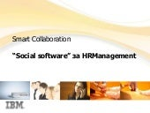 Social software for HR managers