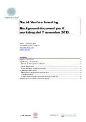 Social Venture Investing _ Backgrou...