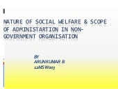 Social welfare administration 2