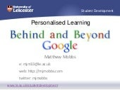 Personalised Learning, Behind and B...