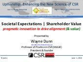 Societal Expectations | Shareholder Value: pragmatic innovation to drive alignment (and value)