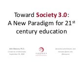 Toward Society 3.0: A New Paradigm...