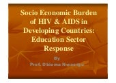 Socio economic burden of hivaids in...