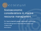 Socioeconomic considerations in mar...
