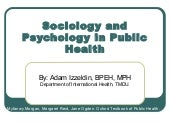 Sociology and psychology in public ...
