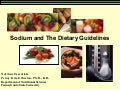 Sodium and the Dietary Guidelines