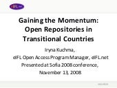Gaining the Momentum: Open Reposito...