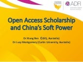 Open Access Scholarship and China's Soft Power
