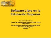Software Libre en La Educacion Supe...